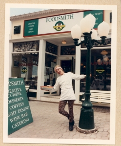 That's me in 1993, in front of my restaurant, Foodsmith, in Calgary.